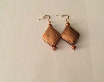 Copper Dangle,Earrings