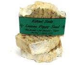 Lemon Poppy Seed Bar Soap, HandMade Bar Soap, Exfoliating Bar Soap, Natural Bar Soap, vegan soap, lemon soap, poppy soap