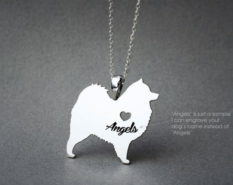 SAMOYED NAME Necklace - SAMOYED Name Jewelry - Personalised Necklace - Dog breed Necklace- Dog Necklace