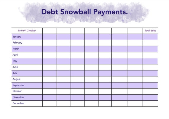 Worksheets Debt Worksheet debt worksheets davezan free printable snowball worksheet intrepidpath
