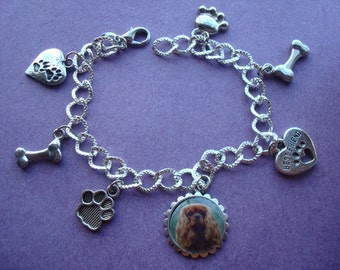Cavalier King Charles. Charm bracelets. Choice of 4 colours.