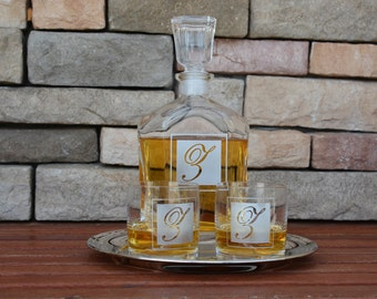 Father Of The Bride, Personalized Engraved  Whiskey Decanter, Groomsmen Gift, Just Married, Christmas Gift, Personalized Whiskey Decanter