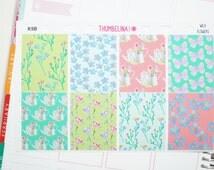 Wild Flowers Full Boxes for the Vertical Erin Condren Life Planner (K9B)