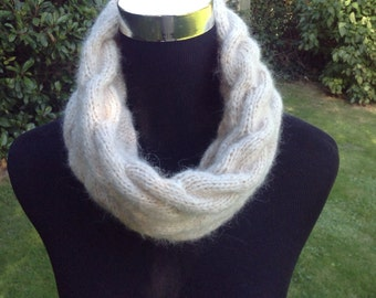 Ladies Cable Alpaca luxury snood / neck warmer by Willow Luxury