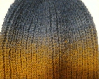 Winter knitted cap