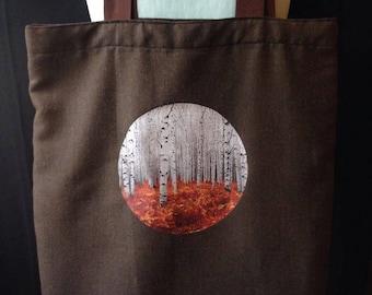 White Birch Landscape Tote Bag