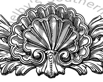 Sea Shell SVG DXF file