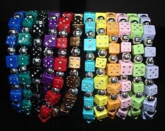 12- Stretchy Dice Bead Bracelets