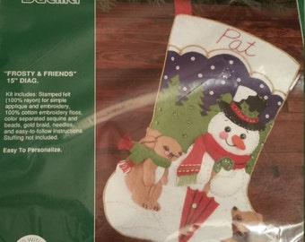 Gallery of Stitches Frosty & Friends stocking kit