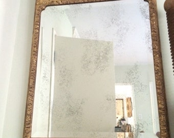 Vintage Antique 22k Gold Leafed Mirror