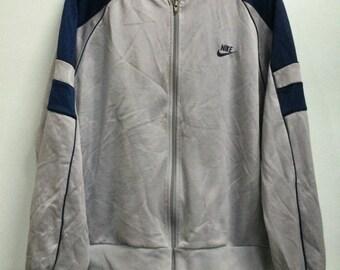 Vintage 80s NIKE Blue Tags Sweater Jacket Extra Large Size