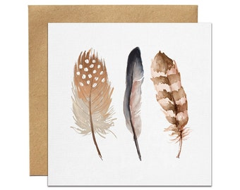 Feathers Greeting Card   Made In Australia