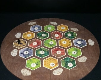 4 Player Catan Frame with movable port tiles splits into 4 parts for storage