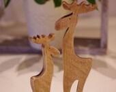 Wooden moose, Wooden Reindeer, Moose, rustic moose, wooden Christmas decorations, rustic Christmas decor