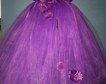 Purple tutu dress, purple formal tutu dress, purple special occasion tutu dress, purple flower girl dress