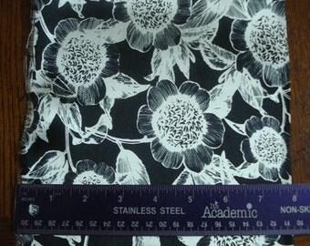 100% Silk Charmeuse Prints - Pincushion B/W