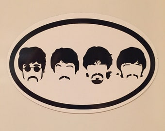 Fab Four Beatles auto magnet