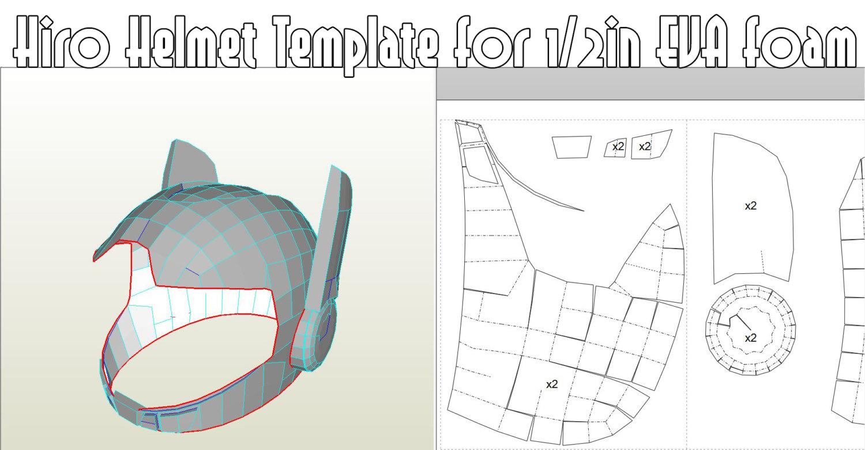 paper knight helmet template - hiro helmet template eva foam