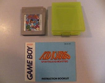 Vintage Nintendo Game Boy Kid Icarus Of Myths and Monsters Cart, Case and Manual