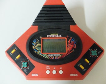 1986 Vtech Video Technology Talking Play by Play Vintage Football Handheld Game