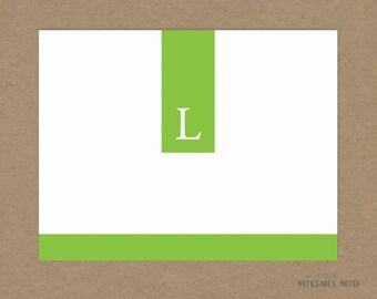 Monogram Custom note cards
