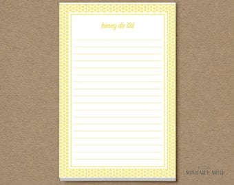 Honey Do list - Honey Do notepad