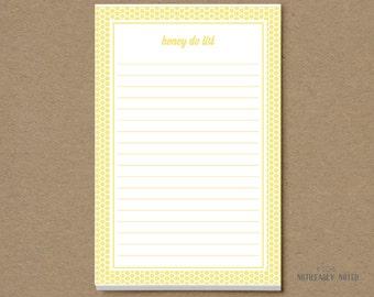 Honey Do List - Honey Do Notepad - Chore List