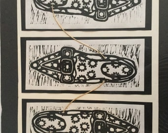 Ink print shoes