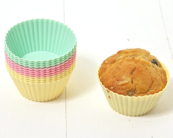 Baking cases, baking tin, muffin cases, silicone bakeware, muffin kit/baking kit/gift for cake lover/baking lover gift/cup cakes