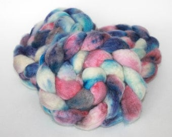 Hand Painted Top / Roving | BFL | Blueberry Pie 2 | 100g