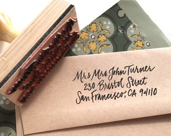 Rubber Stamp for Envelopes - Return Address Custom Design