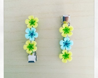 Little girl 3 flower crocodile clip hairslide