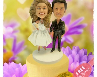 Elvis cake toppers Personalised cake topper Themed cake toppers Unique wedding cake toppers Custom cake topper Bride and groom cake toppers