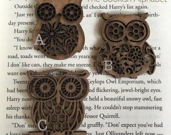 Wood Owl Embellishment