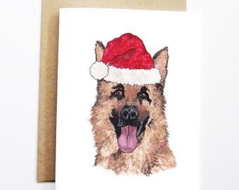Christmas Card - German Shepherd, Dog Christmas Card, Cute Christmas Card, Holiday Card, Xmas Card, Seasonal Card, Christmas Card Set