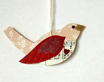 Valentine bird with heart