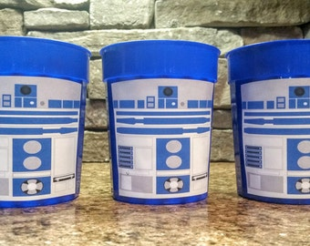 Set of 3 R2D2 Star Wars Birthday Party Cups