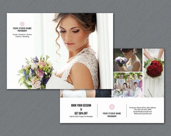 Photography Marketing Template   7x5 Promo Card Template   Photoshop & Elements Template   Instant Download