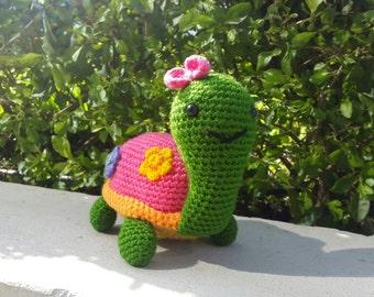 Crochet Turtle Amigurumi Pattern Step by Step (English version)
