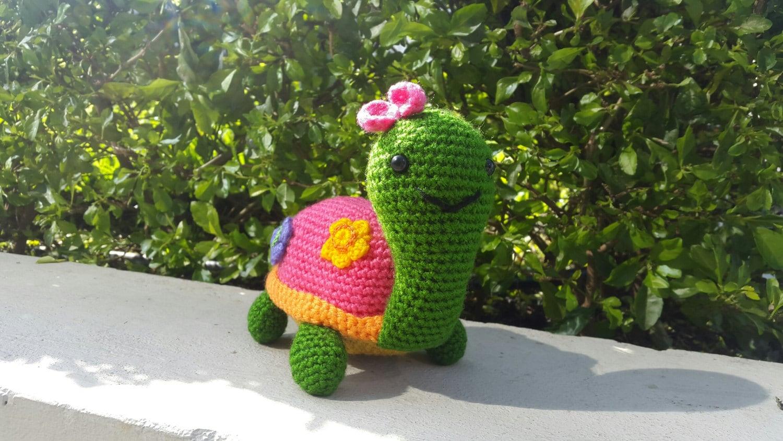 Amigurumi Tortuga Ninja Paso A Paso : Tortuga Crochet Amigurumi Patron Paso a Paso version espanol