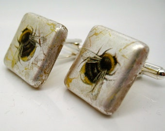 Bee Cufflinks Glass
