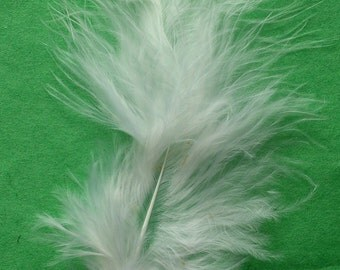 White Marabou Craft Feathers