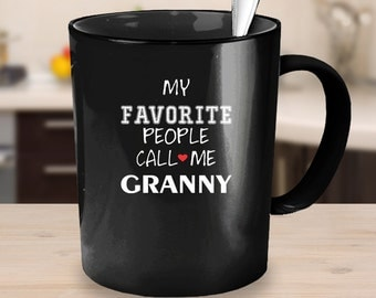 Granny Gift, Coffee Mug, Gift For Her, Secret Santa Gift, Grandma Gift, Water Mug, Black Pottery, Grandma Cup, Gift For Her, Water Cup