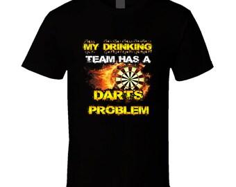 Darts t-shirt. Darts tshirt for him or her. Darts tee as a Darts gift idea. A great Darts gift with this Darts t shirt. Drinking team shirt