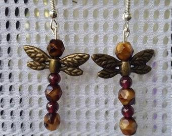Beautiful handmade dragon fly earrings