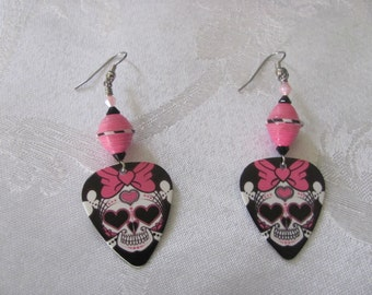 Guitar pic earrings