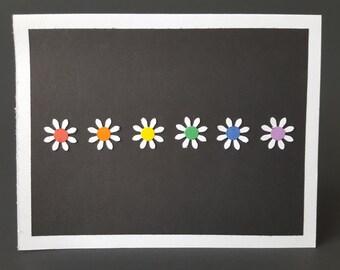 Daisy Rainbow Card