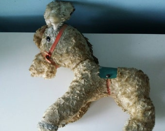 Very old cute donkey stuffed animal vintage antique
