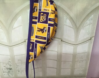 LSU TIGERS, Surgeon Cap/Surgical Hat, USA Handmade.