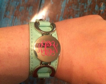 SALE***** Blank Leather monogram cuff Bracelet, Blank Cuff Bracelet, Leather Cuff Bracelet, Blank Monogram Bracelet